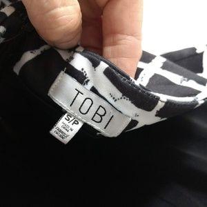 Tobi Tops - TOBI Windowpane Checkered Print Peplum